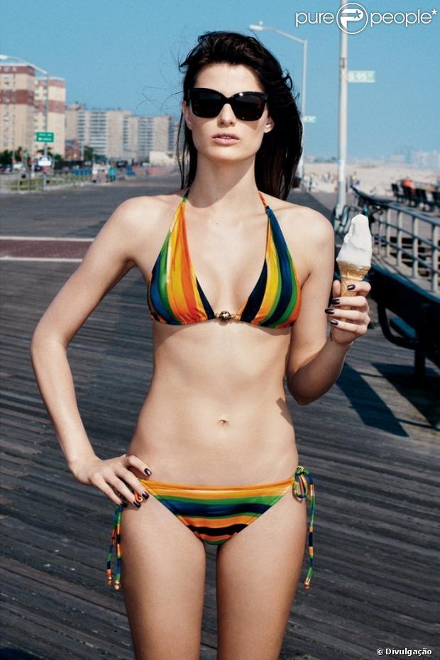 Isabeli Fontana aparece com corpo sequinho em campanha para marca internacional; em fotos divulgadas em 12 de dezembro de 2012