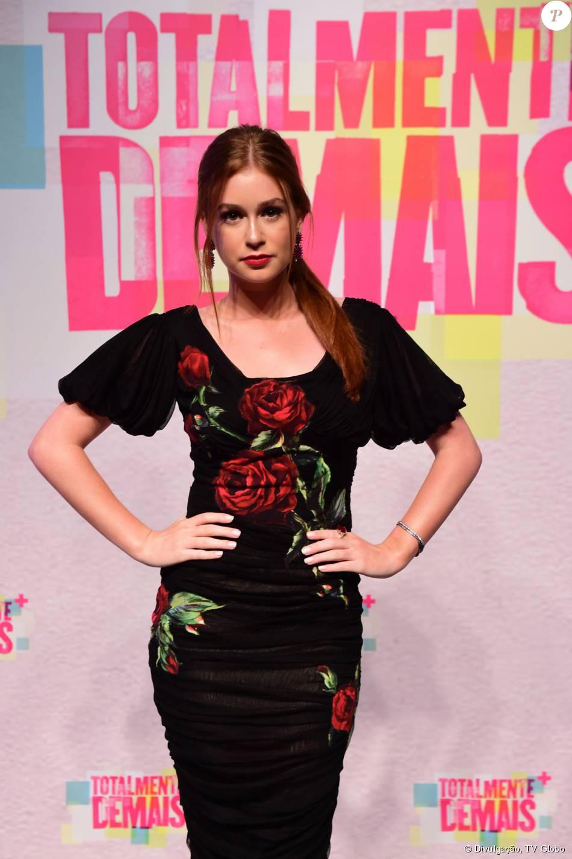 Marina Ruy Barbosa apostou em look da grife italiana Dolce   Gabbana para a  festa de lançamento da novela  Totalmente Demais  78ef1b9736