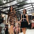 Camila Queiroz desfila no evento Magnum Day ao lado da estilista Patricia Bonaldi e ao som da cantora Preta Gil, neste domingo, 08 de novembro de 2015