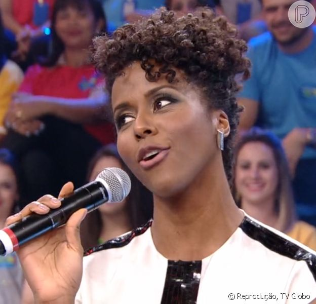Faustão conta que Maju Coutinho era gordinha e a jornalista se surpreende: 'Gordinha?!'