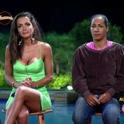 'A Fazenda 8': Carla Prata vence Quelynah e comemora com pulo na piscina