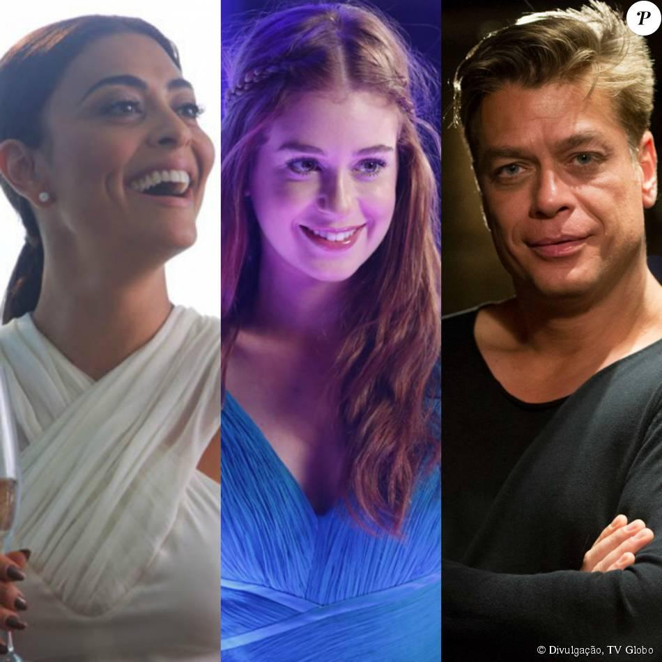 Arthur (Fábio Assunção) aposta com Carolina (Juliana Paes) que vai fazer Eliza (Marina Ruy Barbosa) ser a vencedora do concurso de sua revista, na novela 'Totalmente Demais', em 20 de novembro de 2015