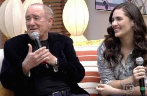 Renato Aragão proíbe beijo da filha Lívian Aragão na TV: 'Disse que não quero'