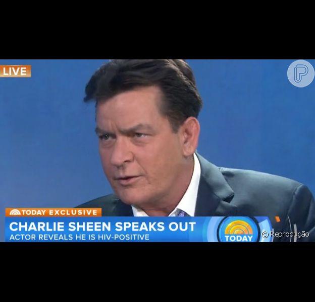 Charlie Sheen revelou nesta semana ser HIV positivo em um programa da TV americana