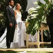 Recém-casado, Fred se declara para a mulher, Paula Armani:'Que seja para sempre'