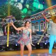 Mariana Santos está classificada para a próxima fase do 'Dança dos Famosos', do 'Domingão do Faustão'
