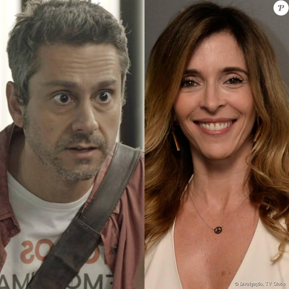 Romero (Alexandre Nero) descobre Kiki Stewart (Deborah Evelyn) sua mulher, desaparecida há 15 anos, vivendo como dona de casa e mãe da filha de Zé Maria (Tony Ramos), na novela 'A Regra do Jogo', em 11 de dezembro de 2015