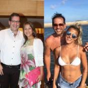 'Pensam que ele trocou de mulher', diz mulher de Leandro Hassum, 10kg mais magra
