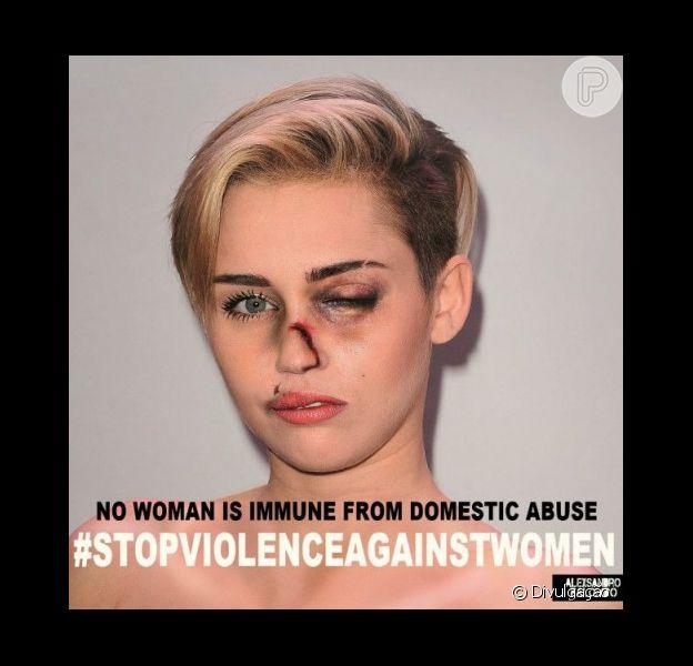 Miley Cyrus e outras famosas usaram seu poder com a opinião pública para chamar atenção para a questão da violência doméstica
