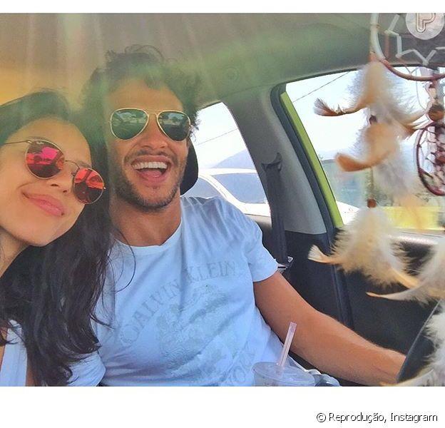 Nando Rodrigues e Yanna Lavigne em foto publicada no Instagram do ator dia 13 de novembro: 'Em ótima companhia'