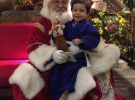 Luana Piovani fotografa filho mais velho com o Papai Noel e fã elogia: 'Anjo'