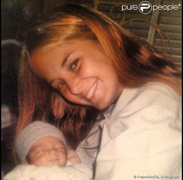 Otávio Mesquita mostra imagem de Ticiane Pinheiro aos 21 anos em 20 de agosto de 2013