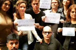 Juliana Paes protesta contra racismo em foto com elenco de 'Totalmente Demais'