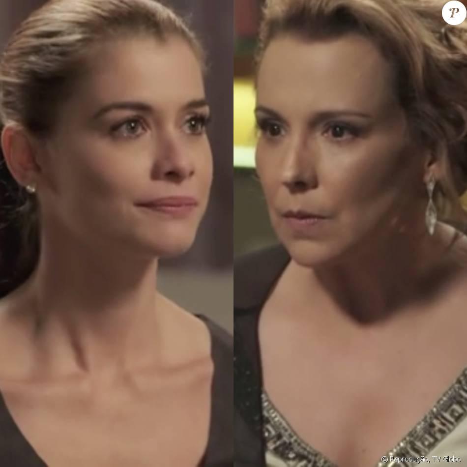 24e3f405143bb Após Lívia (Alinne Moraes) ouvir conversa da mãe, Emília (Ana Beatriz  Nogueira