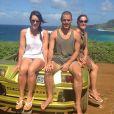 Renata Ceribelli viajou de férias recentemente com os filhos gêmeos, Marcela e Rodrigo, de 23 anos, para Fernando de Noronha
