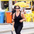 Para manter a forma, Renata Ceribelli também corre na orla do Rio de Janeiro