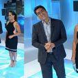 Renata Ceribelli surgiu ainda mais bonita neste domingo, 25 de agosto de 2013, no 'Fantástico'. A jornalista exibiu rosto e braços finos em um elegante vestido Tufi Duek