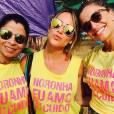 Grazi Massafera posa ao lado de Giovanna Ewbank e Anna Lima em Fernando de Noronha