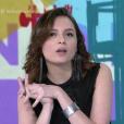 Monica Iozzi deixou Otaviano Costa chamar matéria de Klebber Toledo no 'Vídeo Show' depois que o apresentador riu dela
