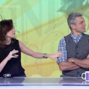 Monica Iozzi cita o nome de Klebber Toledo no 'Vídeo Show' e Otaviano Costa ri