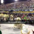 Ivete Sangalo prestigia desfile da Mangueira na Sapucaí: 'Dá vontade de chorar!', neste sábado, 13 de fevereiro de 2016