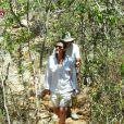 Patrícia Pillar aproveitou a folga das gravações da minissérie 'Amores Roubados' para conhecer a trilha feita por Lampião e Maria Bonita