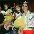 Giovanna Antonelli e o marido, Leonardo Nogueira, comemoram aniversário de 3 anos das filhas Antonia e Sofia