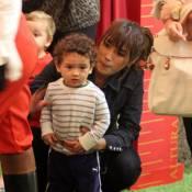Filho de Daniele Suzuki, Kauai já é amigo de Papai Noel de shopping na Barra