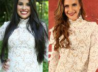 Munik, campeã do 'BBB16', repete vestido de Hanna Romanazzi: 'Presente das fãs'