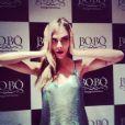 Cara Delevingne fazendo sua famosa careta no lançamento da nova coleção da Bo.Bô, em Ipanema, Zona Sul do Rio de Janeiro, nesta quinta-feira (3)