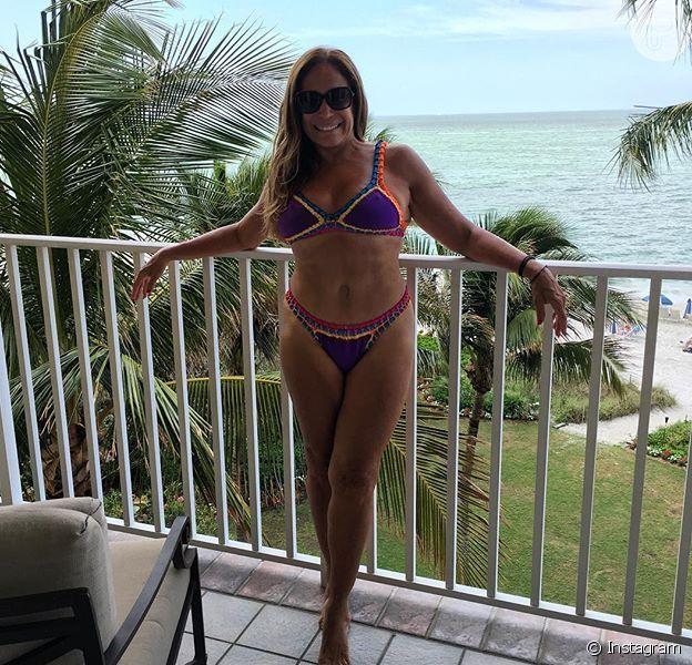 Susana Vieira chamou atenção ao posar de biquíni aos 73 anos durante viagem de férias ao Caribe