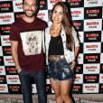 Pérola Faria e Bernardo Velasco no show de estreia da 'Bang Tour', de Anitta, no Rio, nesta quinta-feira, 7 de abril de 2016