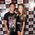 Arthur Aguiar e a namorada, Camila Mayrink, no show de estreia da 'Bang Tour', de Anitta, no Rio, nesta quinta-feira, 7 de abril de 2016