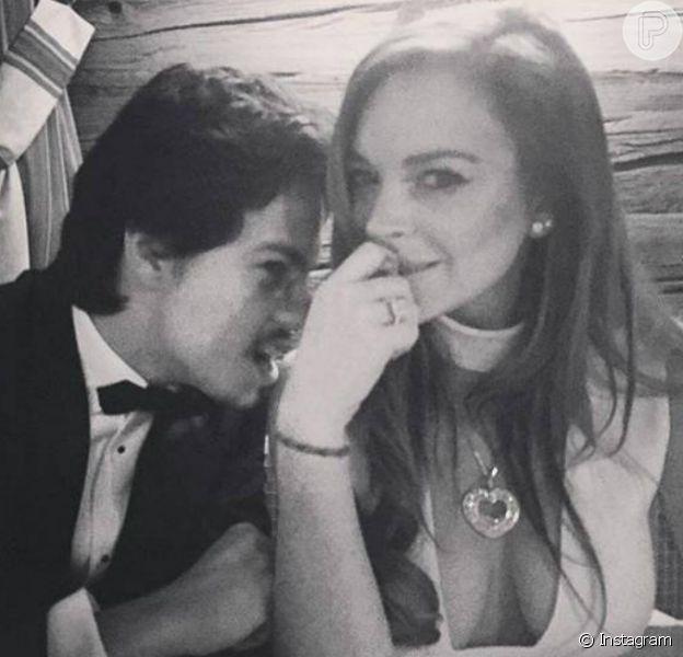 Lindsay noivou com Egor Tarabasov no final de semana, o milinário russo é sete anos mais novo que a atriz