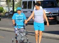 Claudia Rodrigues passeia pela orla do Rio quatro meses após transplante. Fotos!