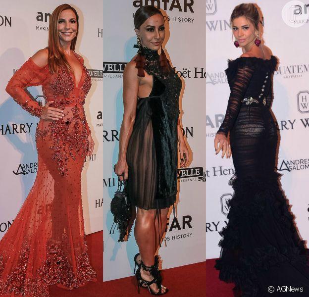 Famosas brilham com looks glamourosos no evento da amfAR