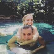 Angélica e Luciano Huck curtem feriado de sol juntos na piscina: 'Dando valor'