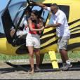 Munik, campeã do 'BBB16', fez um passeio de helicóptero na manhã desta sexta-feira, 22 de abril de 2016