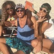 Ex-BBBs Adélia, Juliana e Daniel vão à praia juntos no Rio de Janeiro: 'De boas'