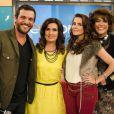 Rodrigo Lombardi, Deborah Secco e Lúcio Mauro Filho fazem parte da cena em que Fátima Bernardes interpreta ela mesma no último episódio de 'A Grande Família'