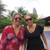 Daniela Mercury e Malu Verçosa aproveitam lua de mel e fazem passeio em Noronha