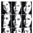 Katy Perry também participou de um série de pequenos retratos mostrando suas diversa caras e bocas