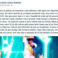 Netinho postou a mensagem no Facebook na noite desta segunda-feira, 18 de novembro de 2013