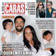 Ricardo Pereira é casado com a portuguesa Francisca Pereira, com quem pretende aumentar ainda mais a família: 'Quero três, quatro filhos, mas as coisas vão acontecendo. Nada foi planejado até agora', disse ele ao programa 'Estrelas', da TV Globo