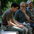 Woody Allen no set de 'Anything Goes' em 2002, em Manhattan