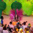 Izabel Goulart foi um dos destaques da cerimônia de encerramento da Rio 2016