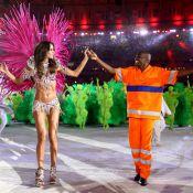 Izabel Goulart usa figurino de passista e samba no encerramento da Rio 2016