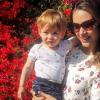 Fernanda Machado mostra o filho Lucca, de 1 ano e 2 meses: 'Companheirinho'