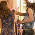 'Haja Coração': Tancinha (Mariana Ximenes) bate em Carmela após humilhação. 'Cala a boca'. Cena vai ao ar nesta quarta-feira, 24 de agosto de 2016