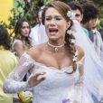 'Haja Coração': Tancinha (Mariana Ximenes) foi humilhada por Carmela (Chandelly Braz) e fugiu vestida de noiva